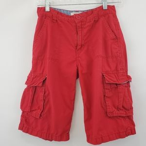 Boys levis red long inseam cargo shorts